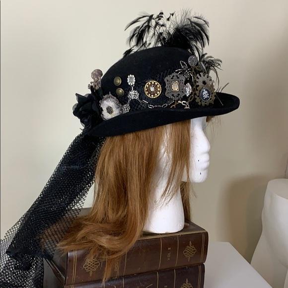 Unique steampunk designed wool Michael Howard hat